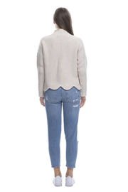 Endless Rose Scallop Edge Sweater - Front full body
