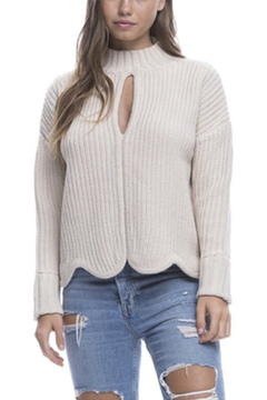 Endless Rose Scallop Edge Sweater - Alternate List Image