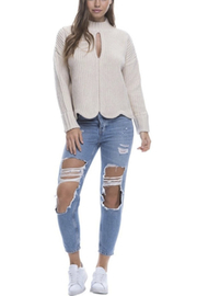 Endless Rose Scallop Edge Sweater - Front cropped