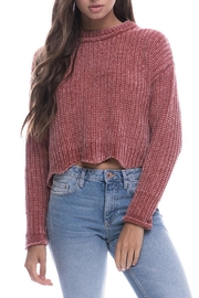 Endless Rose Scallop Hem Sweater - Front cropped