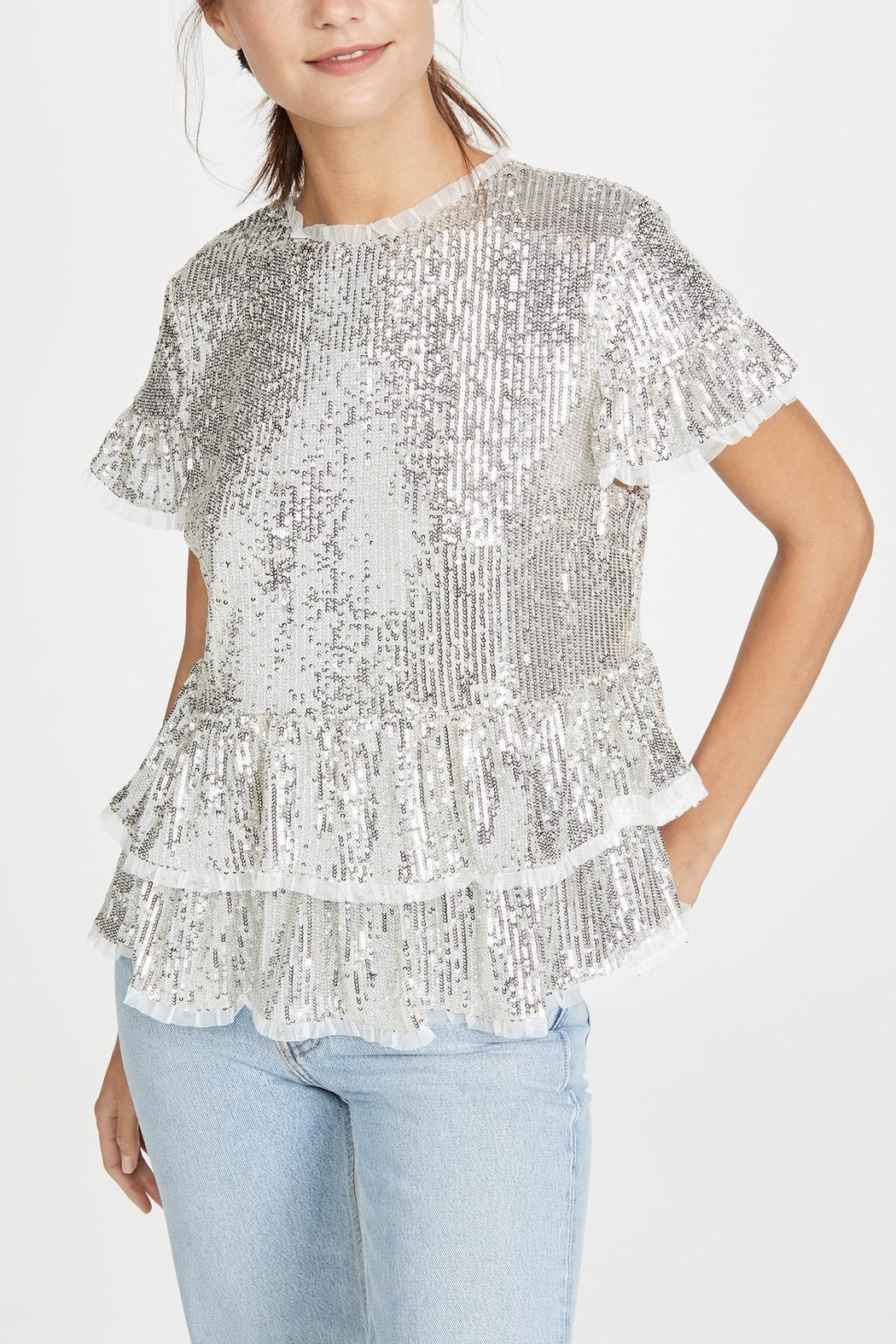 Endless Rose Sequin Tiered Blouse - Main Image