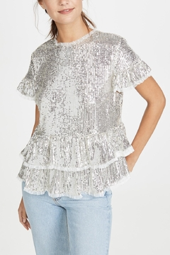 Shoptiques Product: Sequin Tiered Blouse