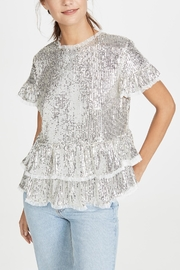 Endless Rose Sequin Tiered Blouse - Product Mini Image