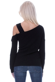 Endless Rose Single Cold Shoulder Sweater - Back cropped