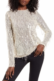 Endless Rose Stella Sequin-Fringe Top - Front cropped