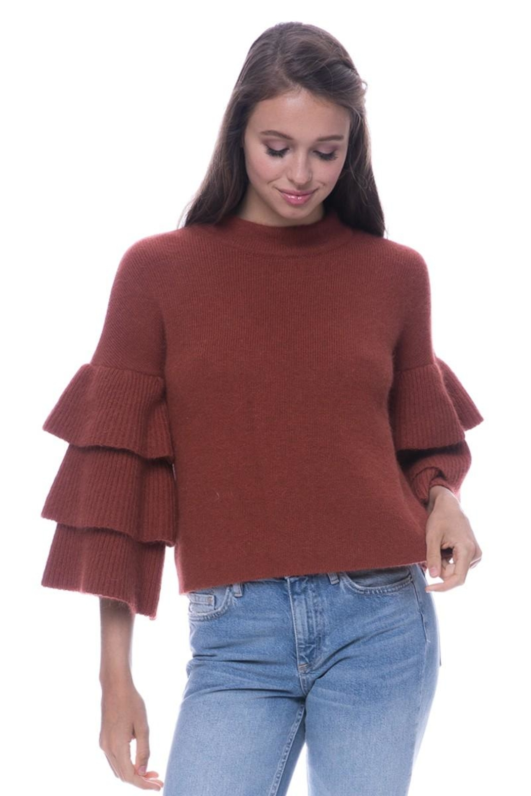 Endless Rose Tiered Sleeve Sweater - Front Full Image