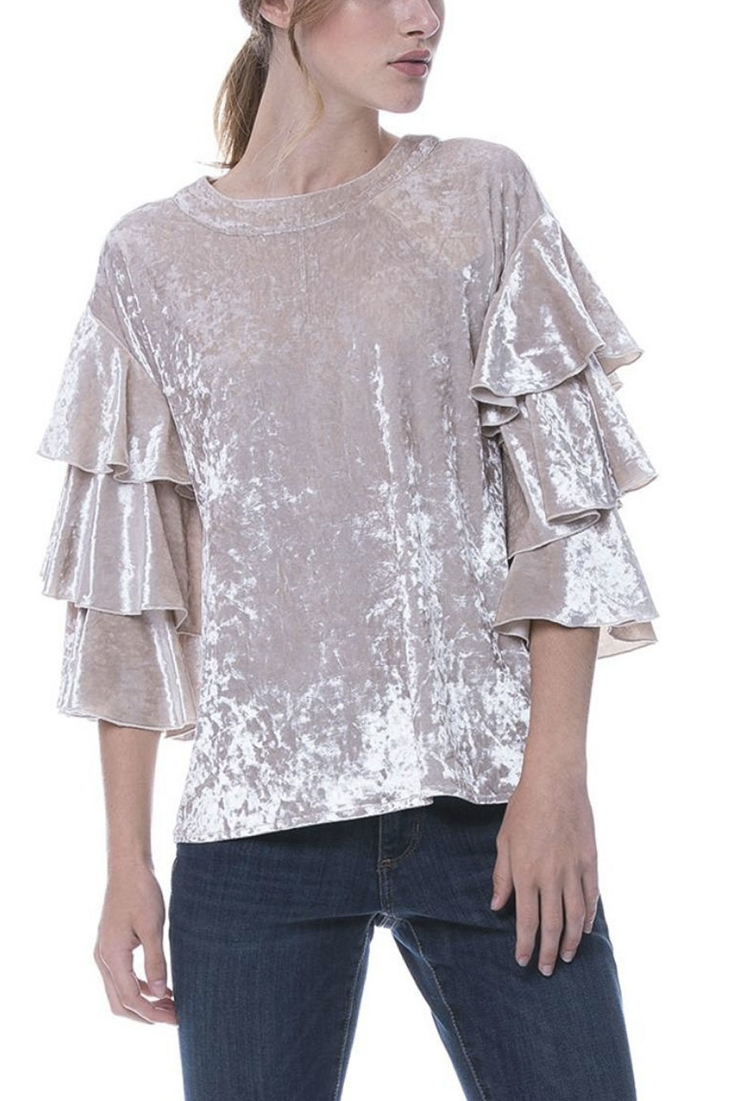 Endless Rose Velvet Tiered Top - Main Image