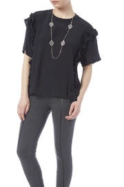 English Factory Black Ruffle Top - Product Mini Image
