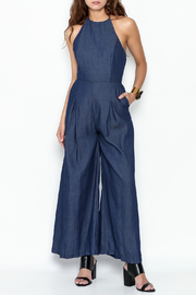 English Factory Halter Denim Jumpsuit - Product Mini Image