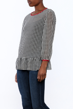 Shoptiques Product: Gingham Ruffle Top