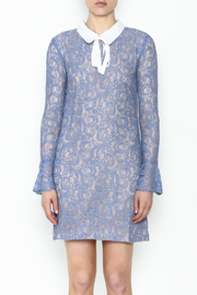 English Factory Collar Lace Bell Sleeve Dress - Front full body