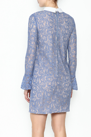 English Factory Collar Lace Bell Sleeve Dress - Back cropped