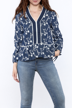 Shoptiques Product: Embroidered Denim Top