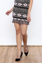 English Factory Fringe Print Skirt - Product Mini Image