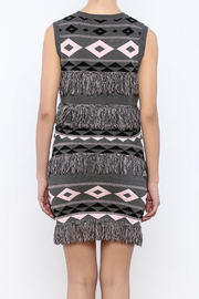 English Factory Fringe Print Top - Back cropped