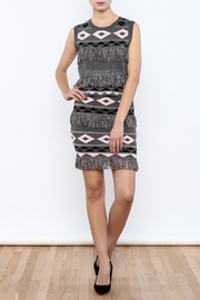 English Factory Fringe Print Top - Front full body