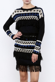 English Factory Geo Fringe Sweater - Product Mini Image