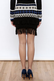 English Factory Geo Sweater Skirt - Back cropped