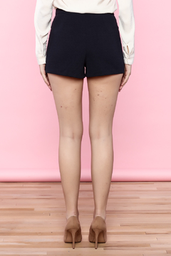 English Factory Navy Blue Lace Up Shorts - Alternate List Image