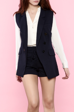 Shoptiques Product: Navy Blue Sleeveless Blazer