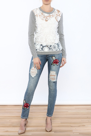 English Factory See-Through Pullover - Front full body