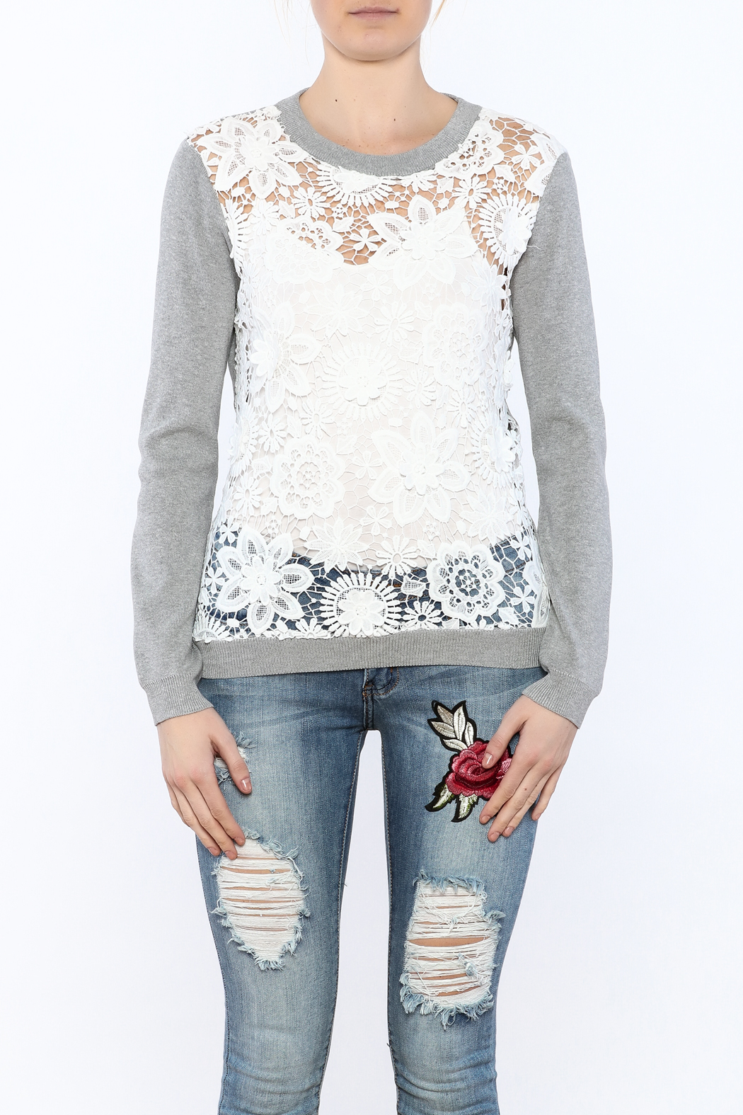 English Factory See-Through Pullover - Side Cropped Image