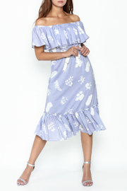 English Factory Off Shoulder Blue Dress - Product Mini Image