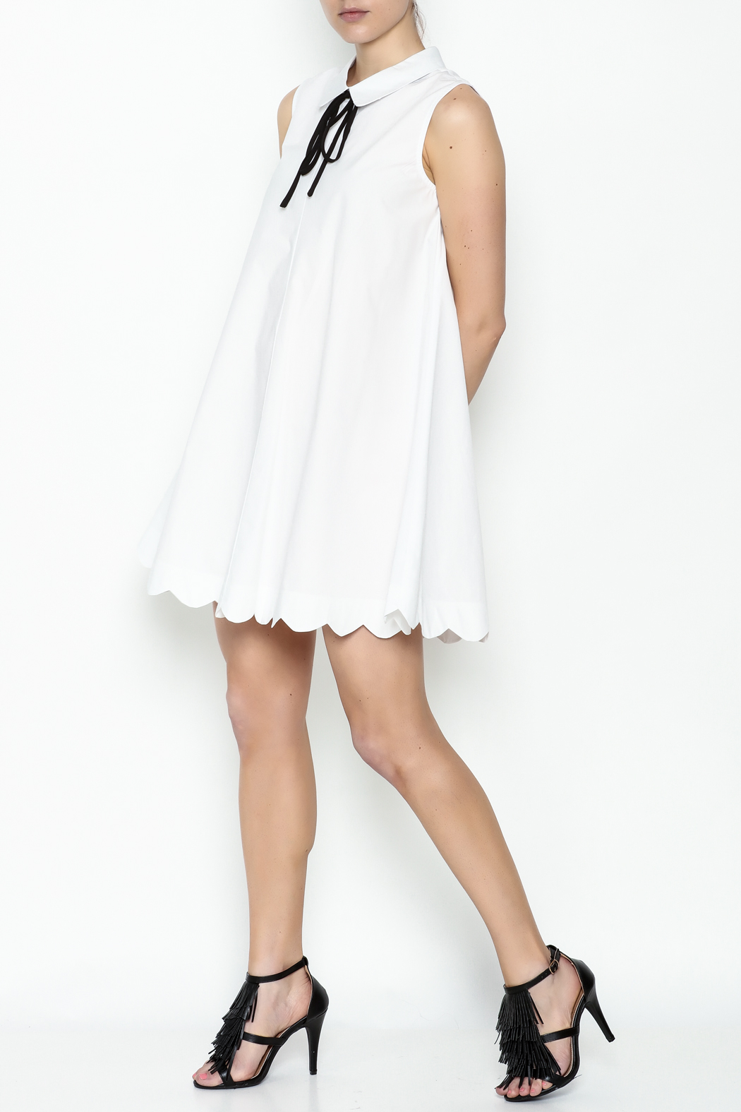English Factory Poplin Collar Dress - Side Cropped Image