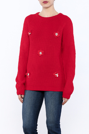 English Factory Red Applique Sweater - Product Mini Image