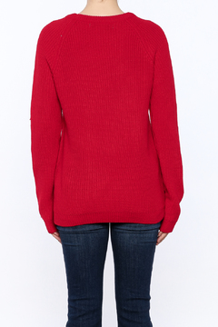 English Factory Red Applique Sweater - Alternate List Image
