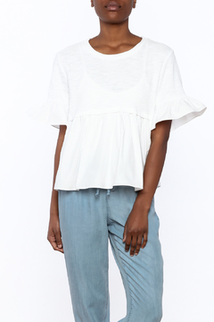 English Factory White Flounced Top - Product List Image