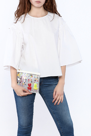 English Factory Ruffle Sleeve Top - Product Mini Image