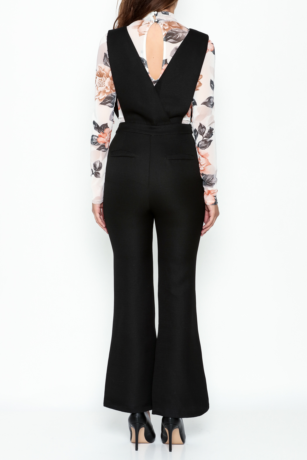 English Factory Black Tailored Jumpsuit - Back Cropped Image