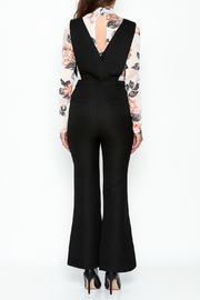English Factory Black Tailored Jumpsuit - Back cropped