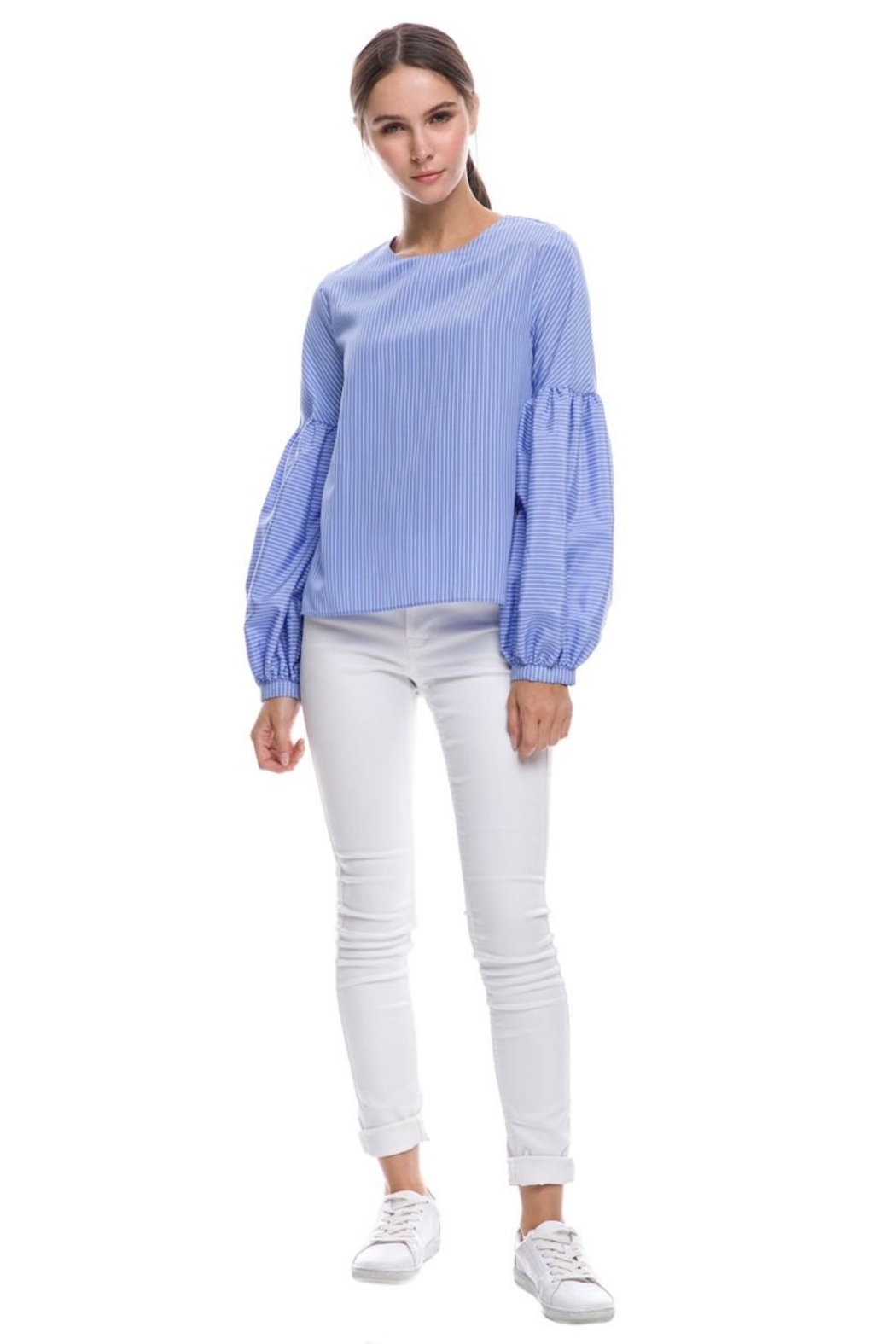 English Factory Balloon Sleeve Top - Front Full Image