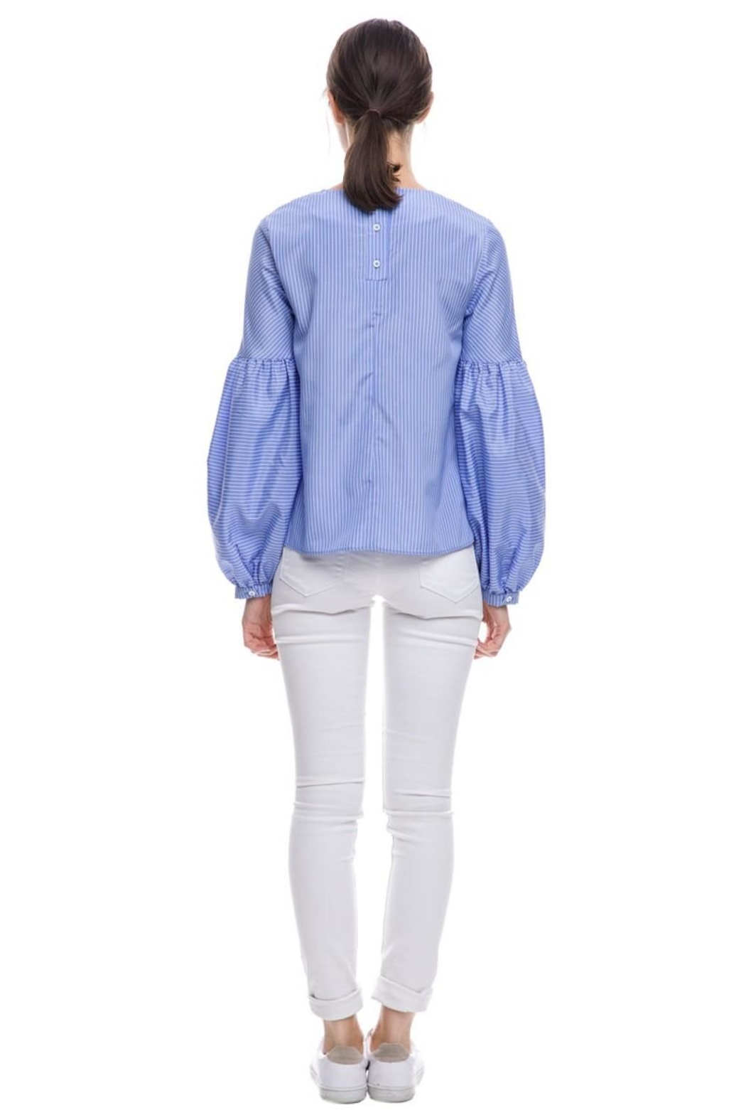 English Factory Balloon Sleeve Top - Side Cropped Image