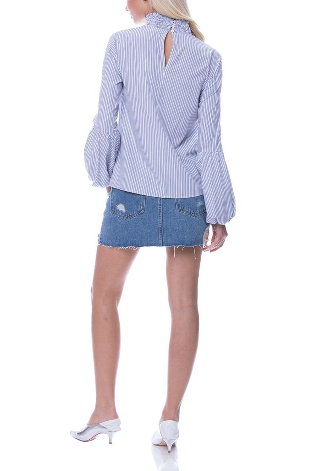 English Factory Balloon Sleeve Top - Back Cropped Image