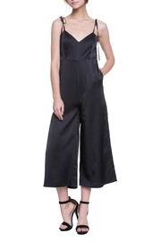 English Factory Black Satin Sleeveless Jumpsuit - Product Mini Image