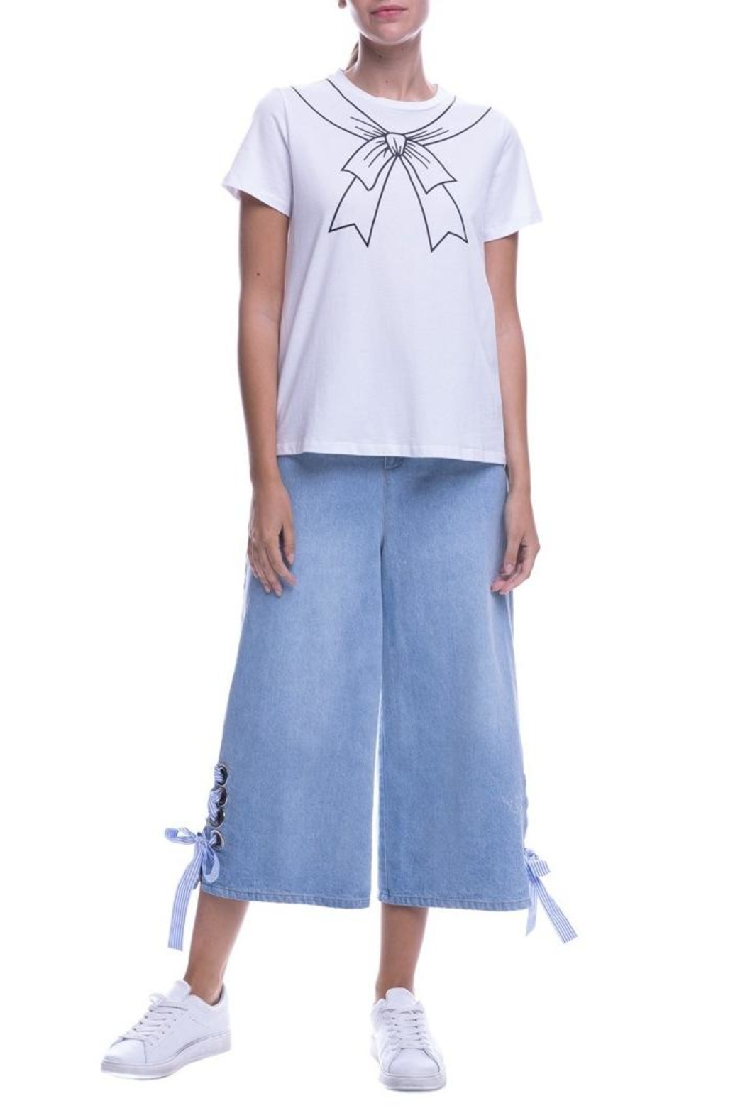 English Factory Bow Motif T-Shirt - Side Cropped Image