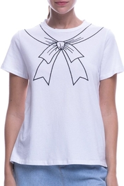 English Factory Bow Motif T-Shirt - Front cropped