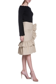 English Factory Camel Ruffle Skirt - Side cropped