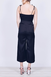 English Factory Cropped Satin Jumpsuit - Back cropped