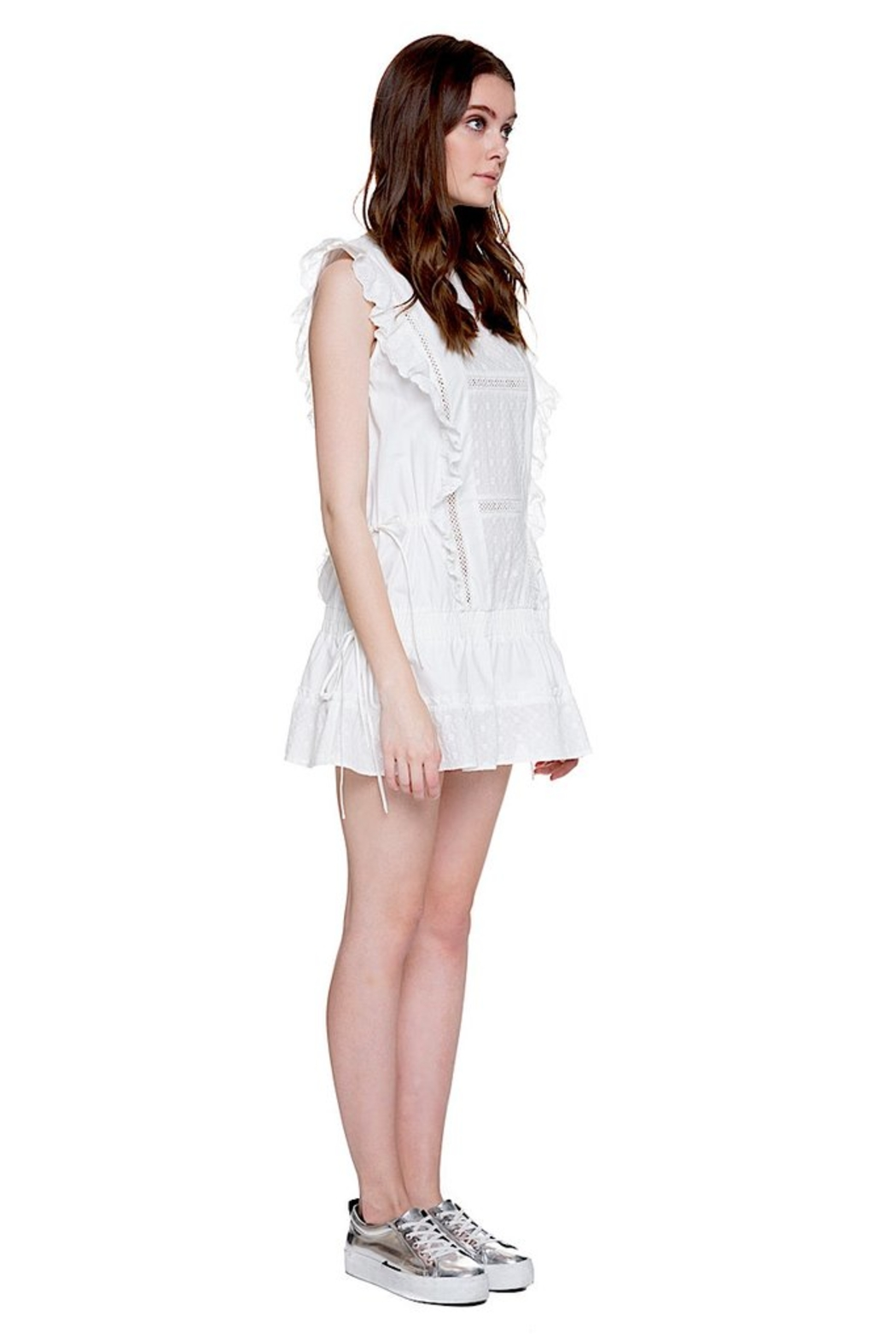 English Factory Eyelet Dropwaist Dress - Side Cropped Image