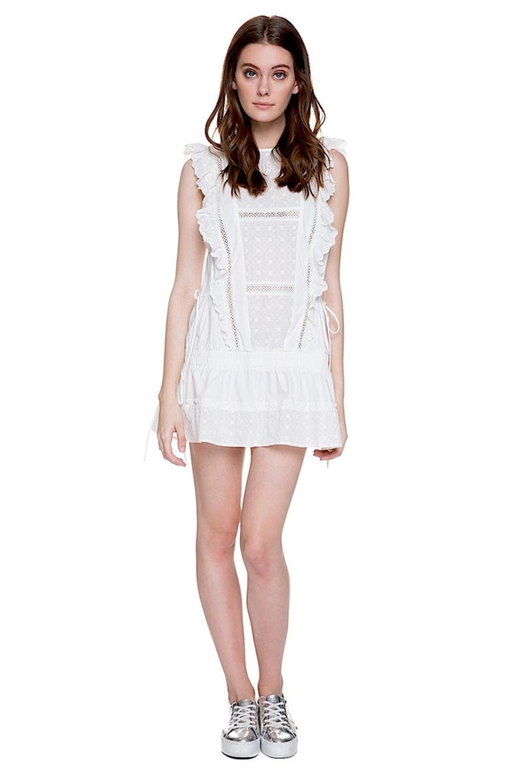 English Factory Eyelet Dropwaist Dress - Front Full Image