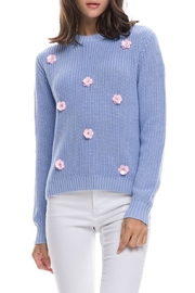English Factory Floral Applique Sweater - Product Mini Image