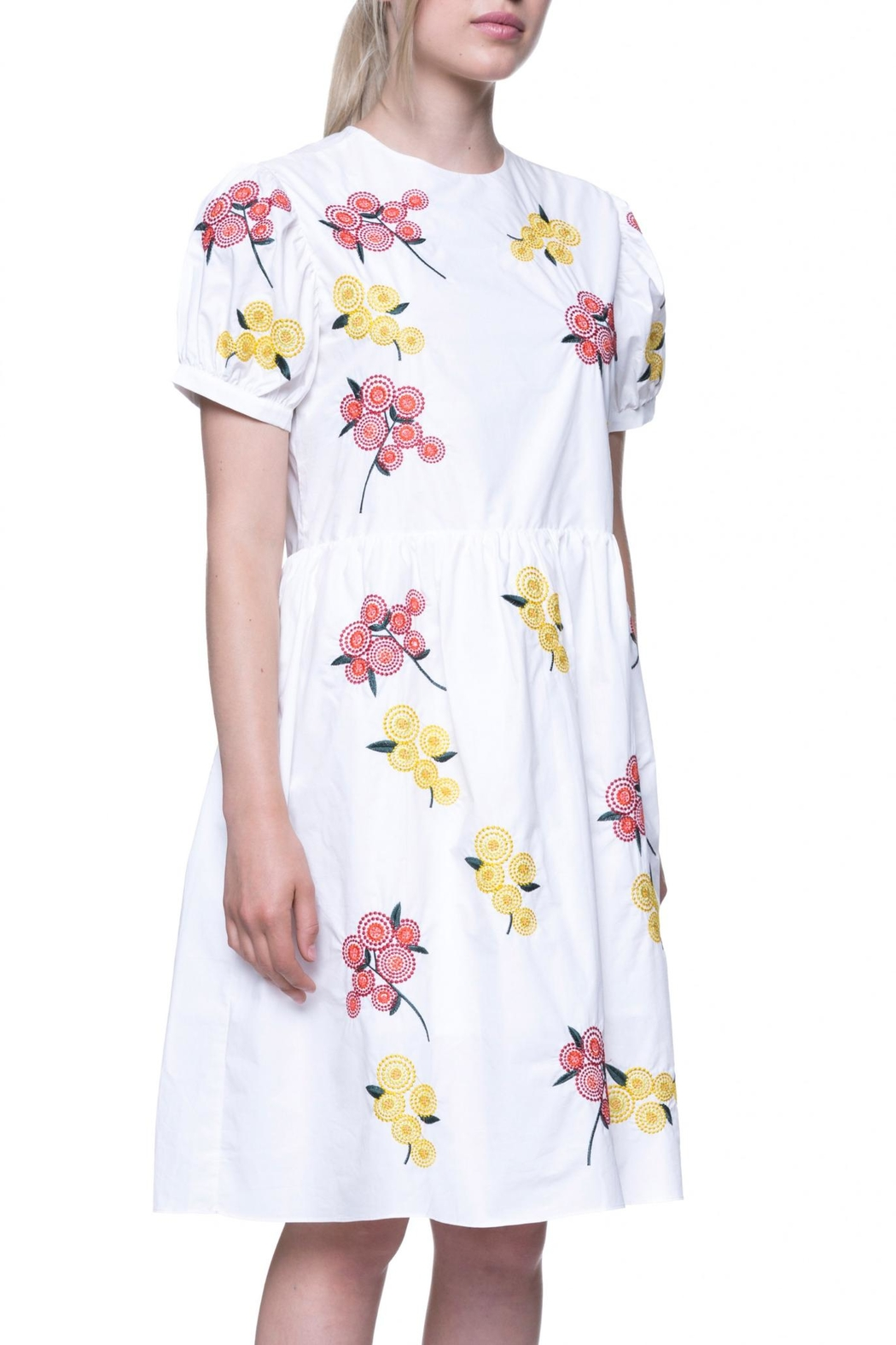 English Factory Floral Embroidered Dress - Front Full Image
