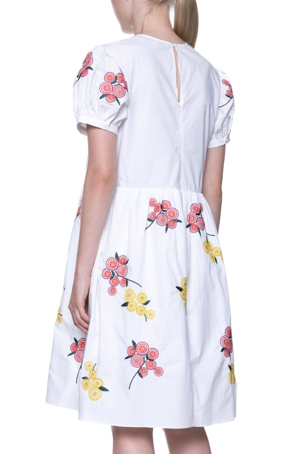 English Factory Floral Embroidered Dress - Side Cropped Image
