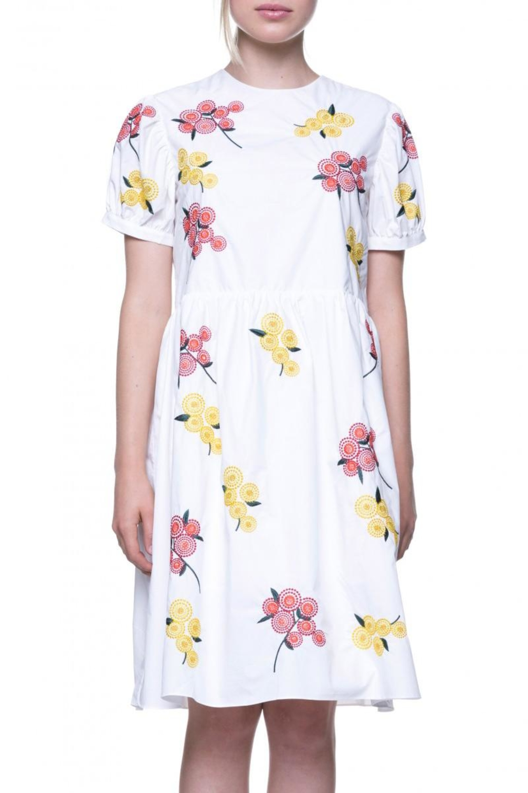 English Factory Floral Embroidered Dress - Main Image