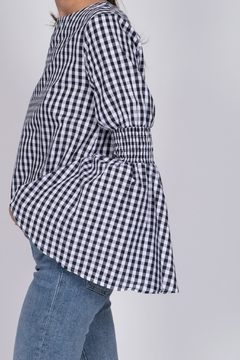 English Factory Gingham Bell Sleeve Top - Alternate List Image
