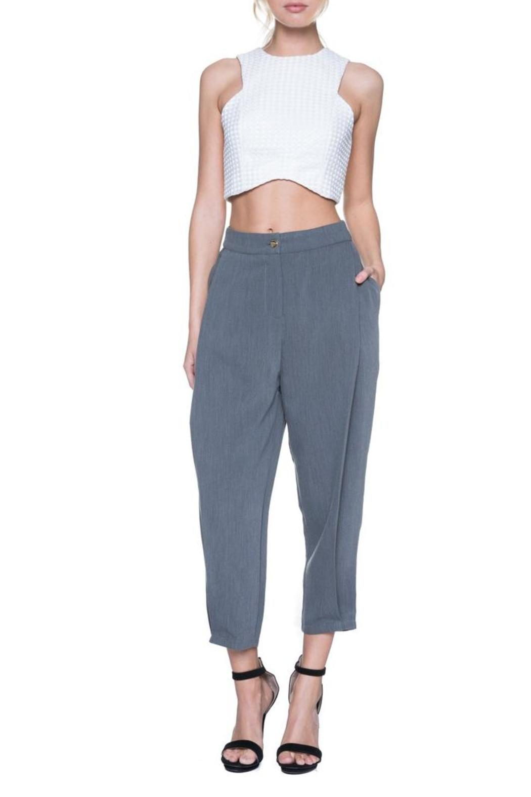 English Factory High Waist Trouser - Front Cropped Image